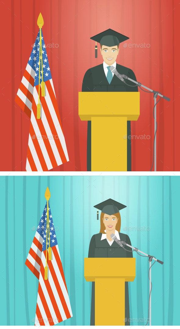 Graduation - People Characters