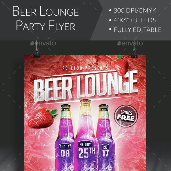 Beer Lounge Flyer