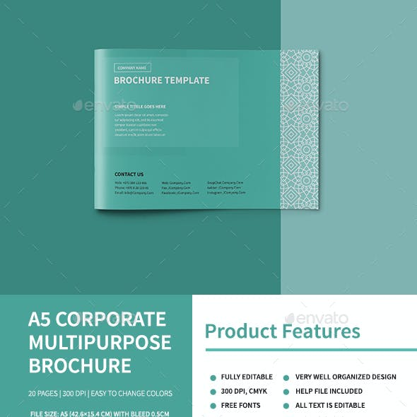 A5 Corporate Multipurpose Brochure