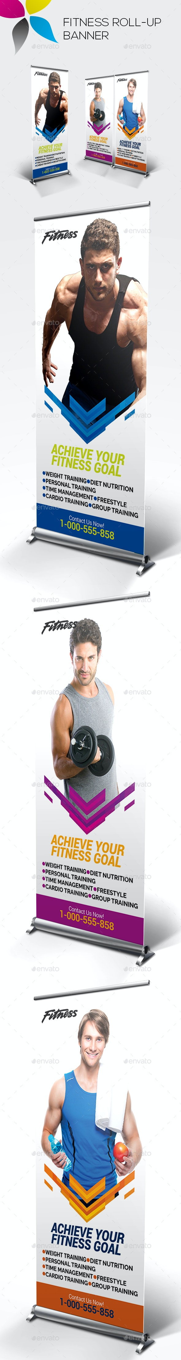 Fitness Roll-up Banner - Signage Print Templates