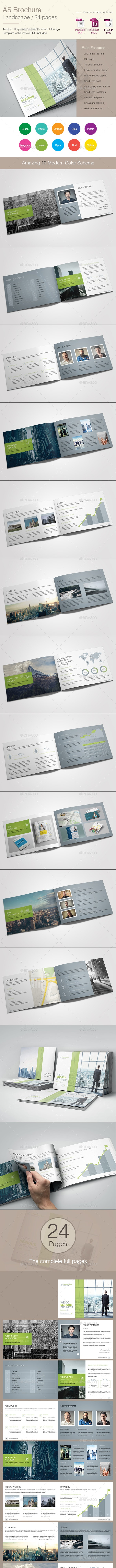 A5 Brochure Landscape - Corporate Brochures