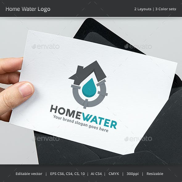 Home Water Plumber Logo