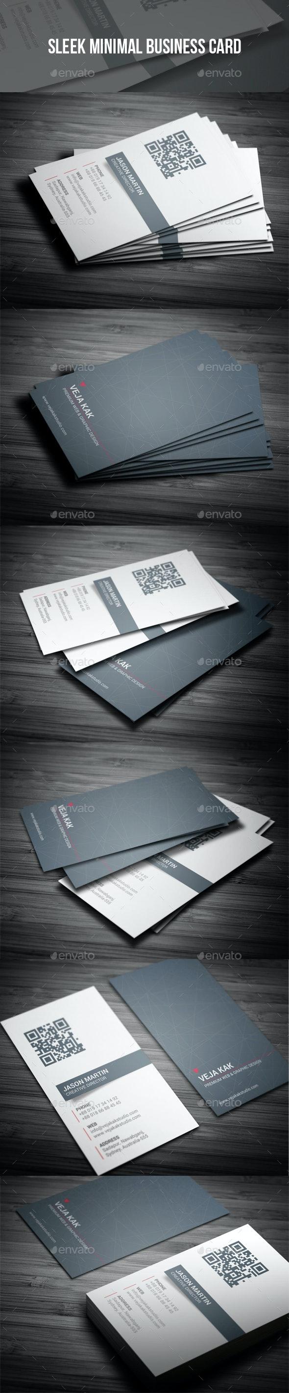 Sleek Minimal Business Card - Creative Business Cards
