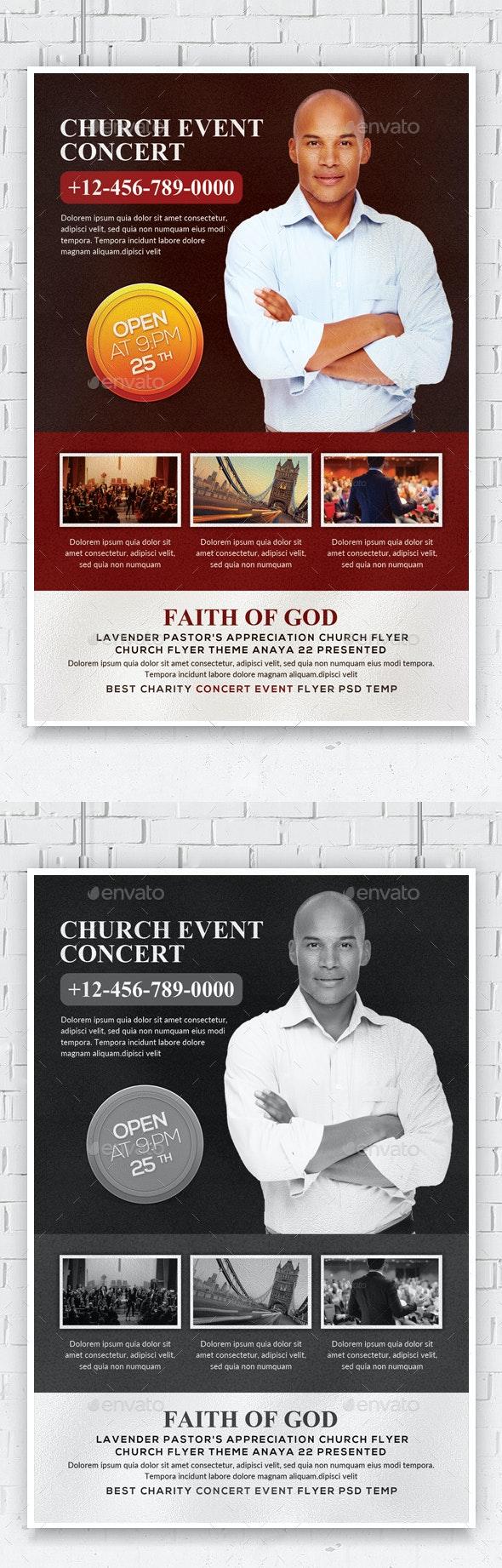 Church Anniversary Flyer Template - Church Flyers