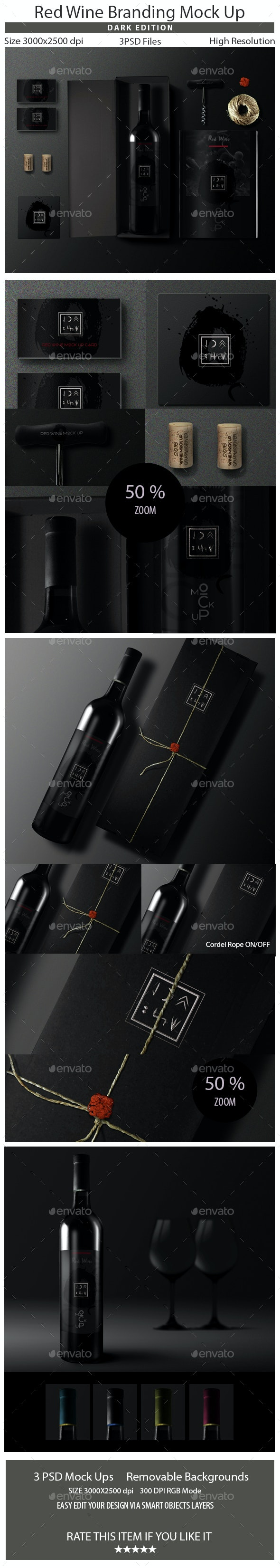 Wine Branding Mock Up - Food and Drink Packaging