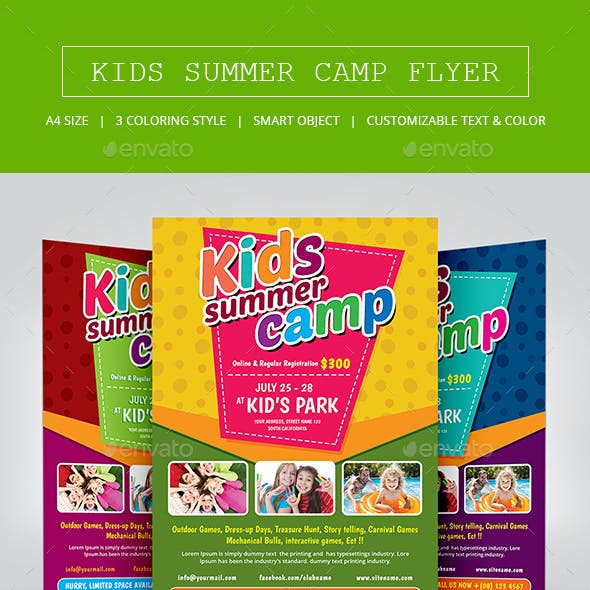 Kids Summer Camp Flyer