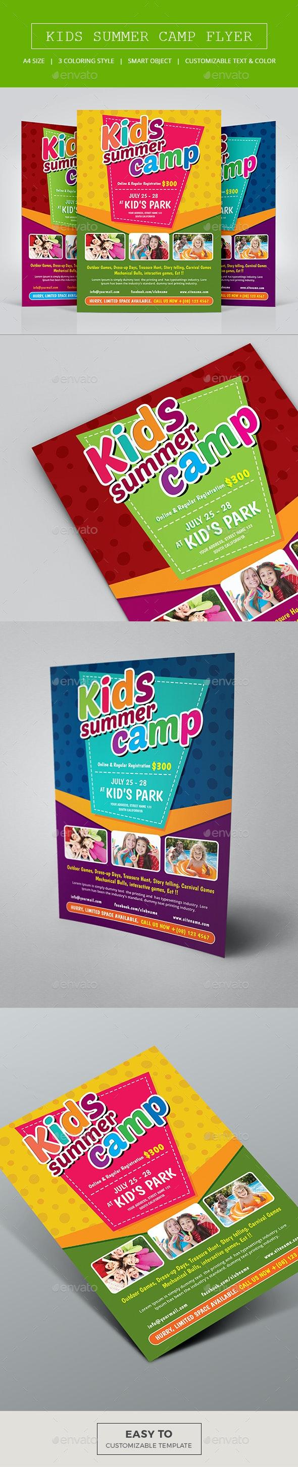 Kids Summer Camp Flyer - Corporate Flyers