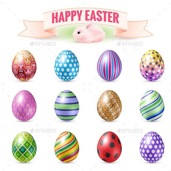 Set of Easter Eggs - Miscellaneous Seasons/Holidays