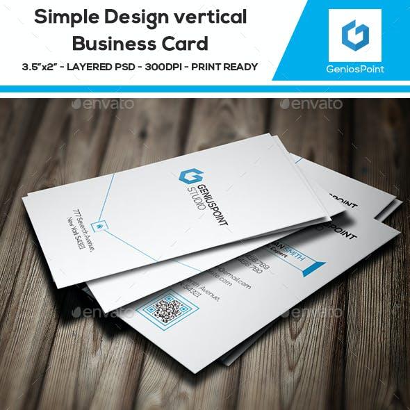Simple Design Vertical Business Card