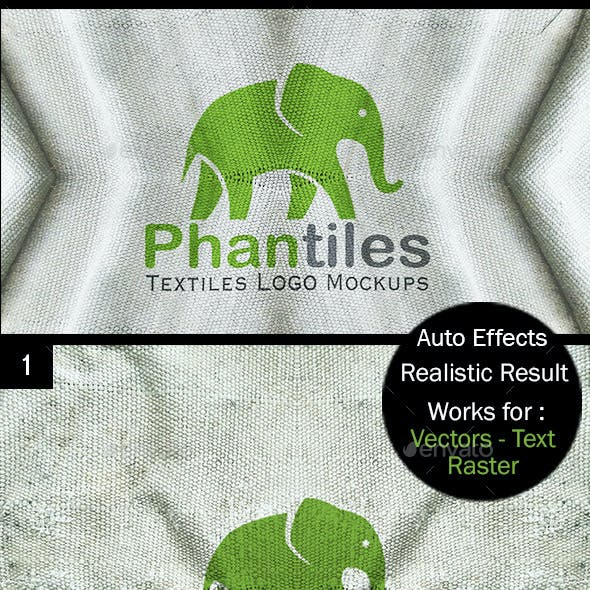 Logo Mockup Set - Vintage Fabrics