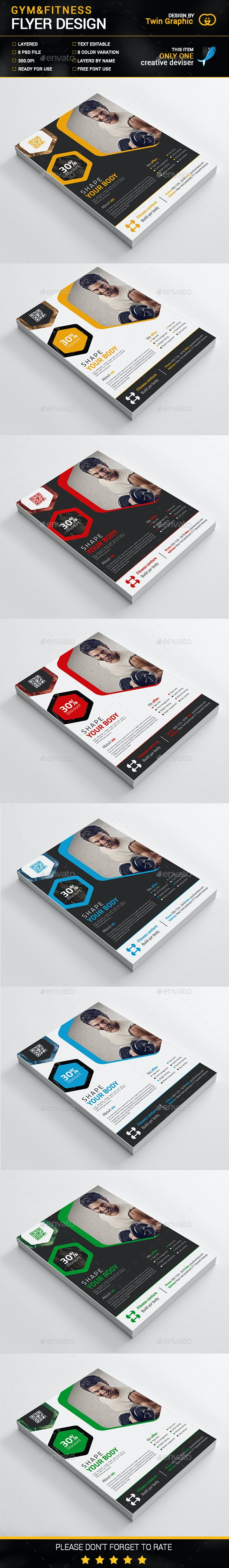 Gym&Fitness Flyer Design - Sports Events