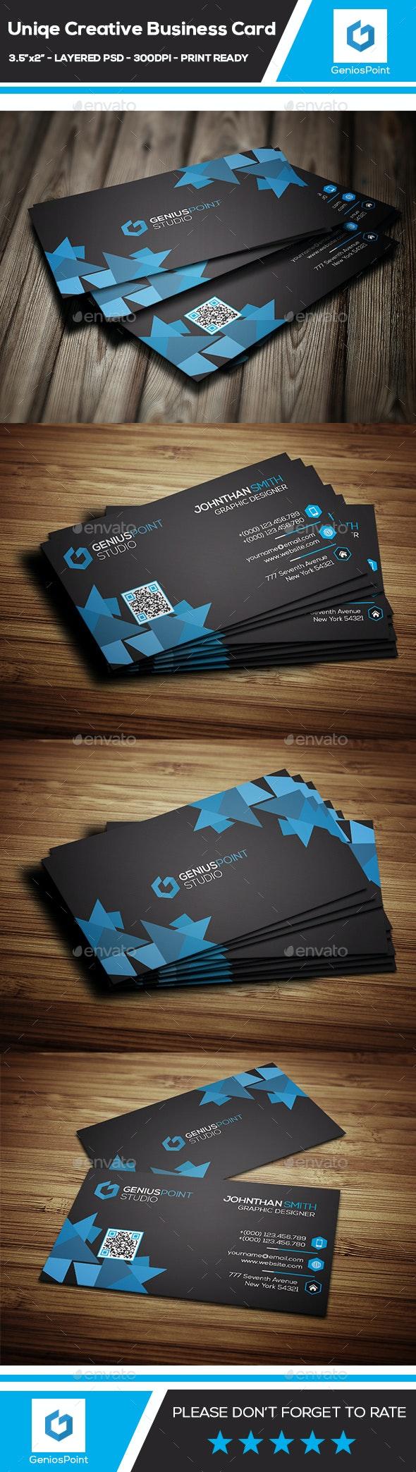 Unique Creative Business Card - Business Cards Print Templates