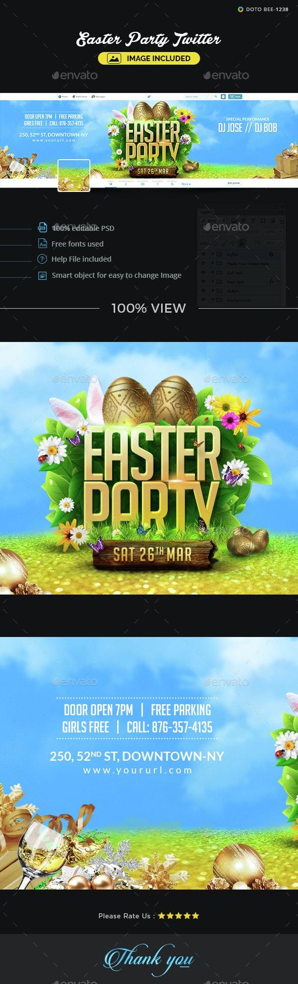 Easter Twitter Header - Twitter Social Media