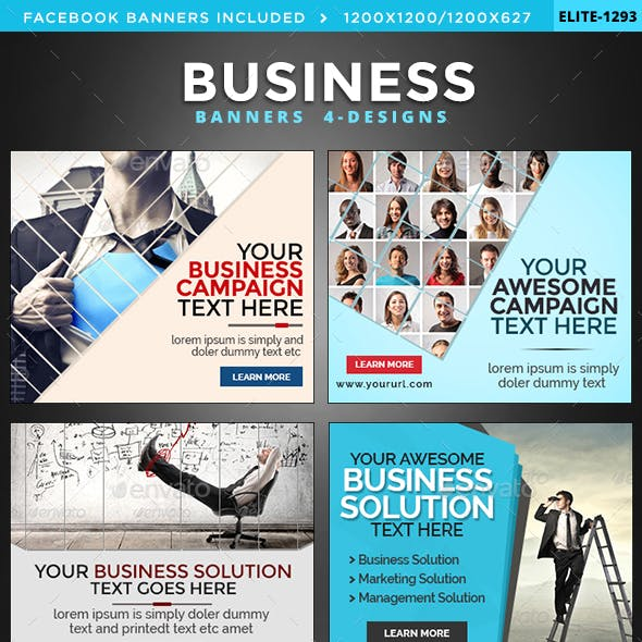 Business Banners Bundle - 4 Sets