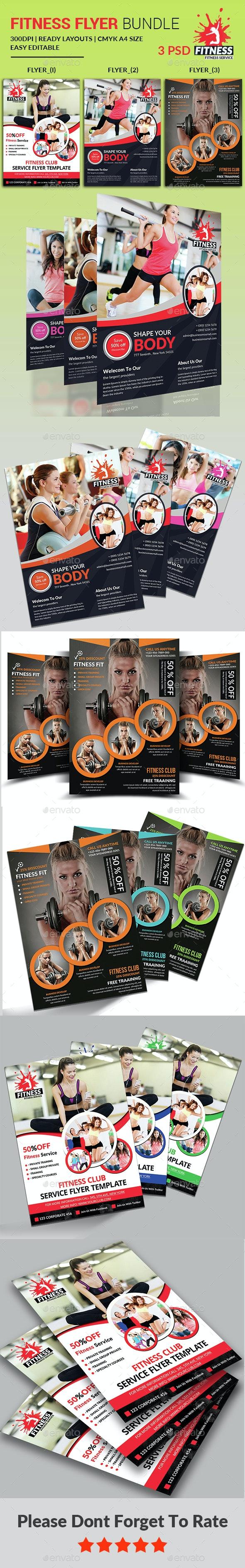 Fitness Flyer - Gym Flyer Bundle - Corporate Flyers