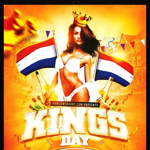 King's Day / KoningsDag v2 Party Flyer Template