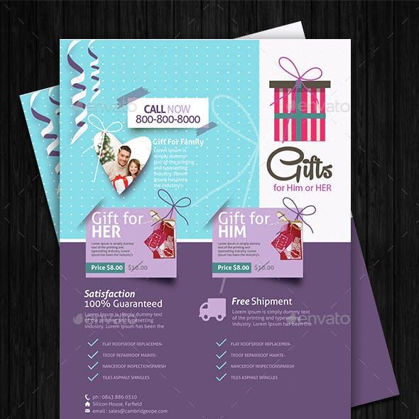 Gift Shop Flyer Design