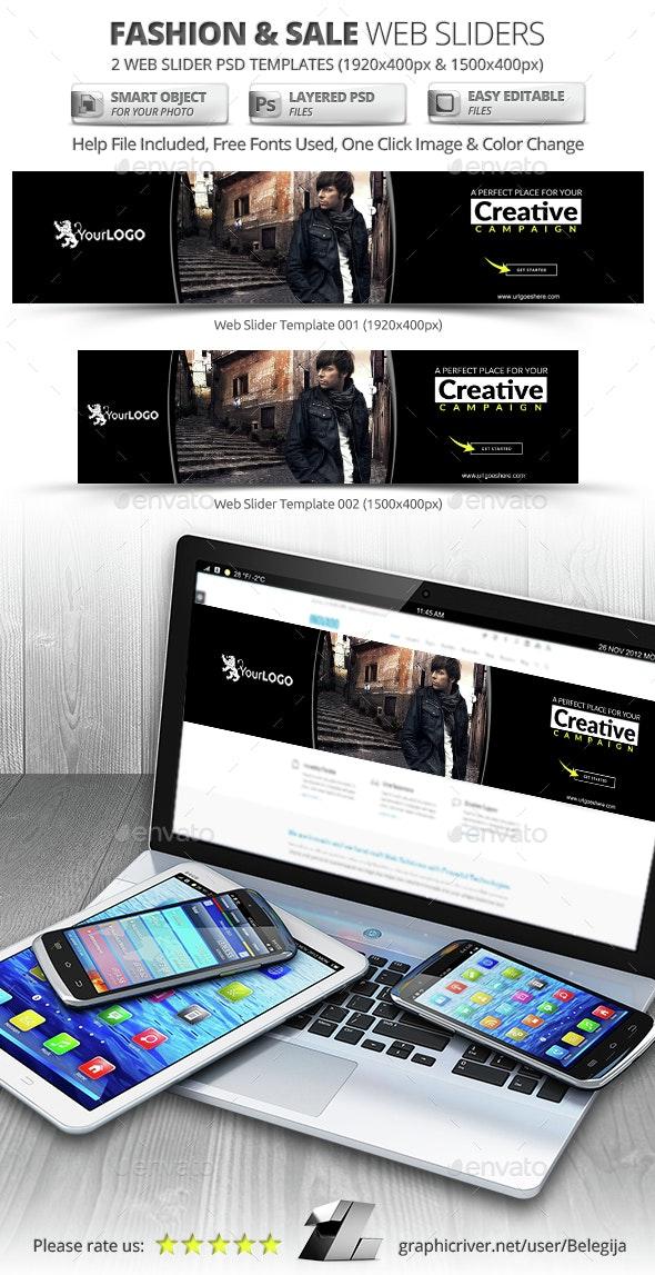 Fashion & Sale Web Sliders - Sliders & Features Web Elements