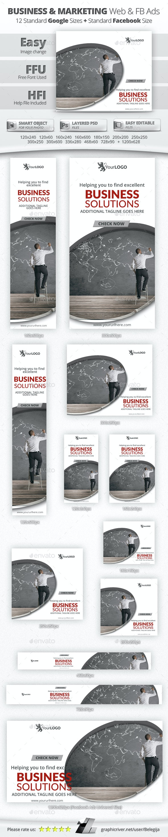 Business & Marketing Web & Facebook Banners/Ads - Banners & Ads Web Elements