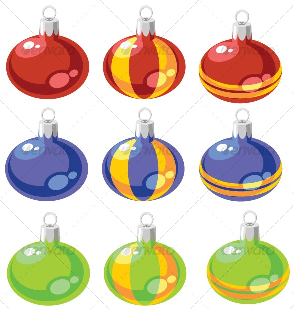 Balls xmas set color 02 - Seasons/Holidays Conceptual