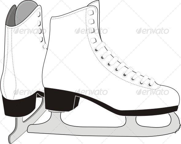 Ledy's  Ice Skates. - Sports/Activity Conceptual