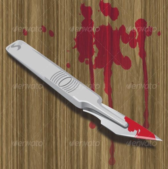 Bloody Scalpel - Health/Medicine Conceptual