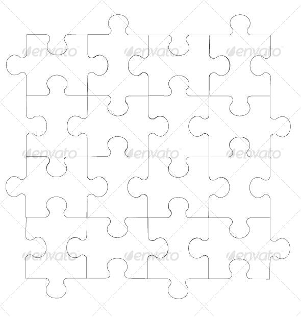 2d puzzle in color 06 - Conceptual Vectors