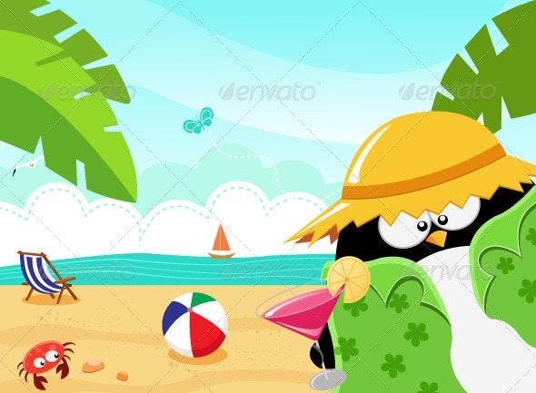 Summer Penguin - Animals Characters