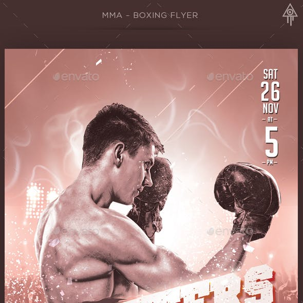 MMA - Boxing Flyer