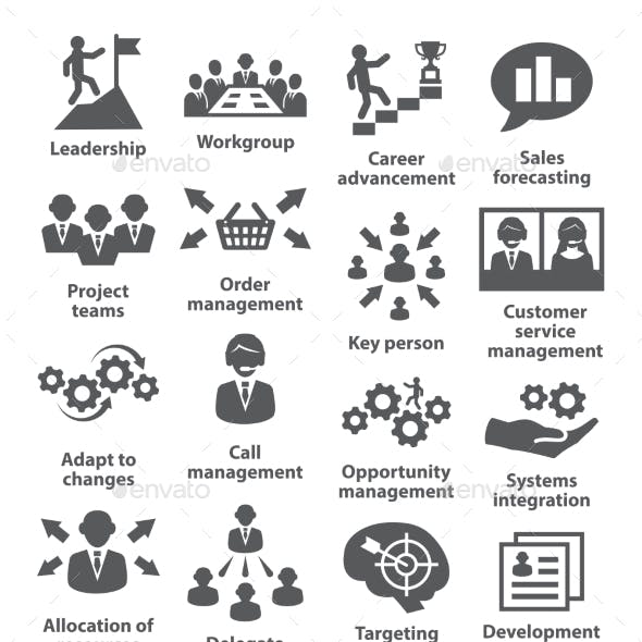 Business Management Icons. Pack 02.