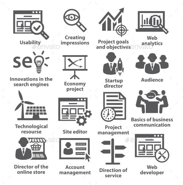 Business Management Icons. Pack 07. - Business Icons