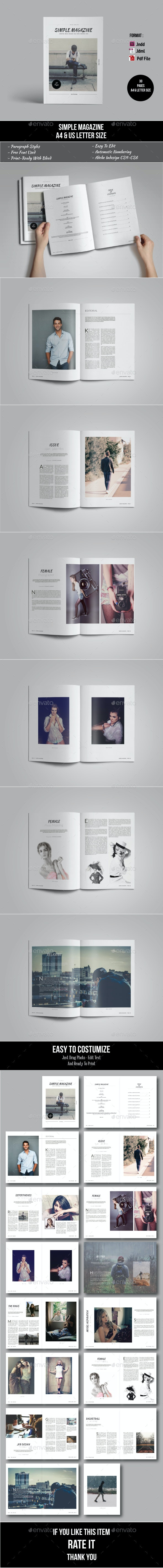 Simple Magazine Template - Magazines Print Templates