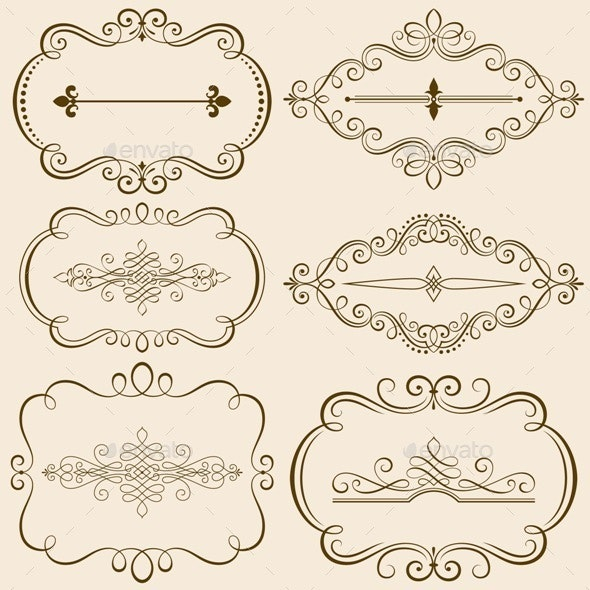 Decorative Calligraphic Frames - Borders Decorative