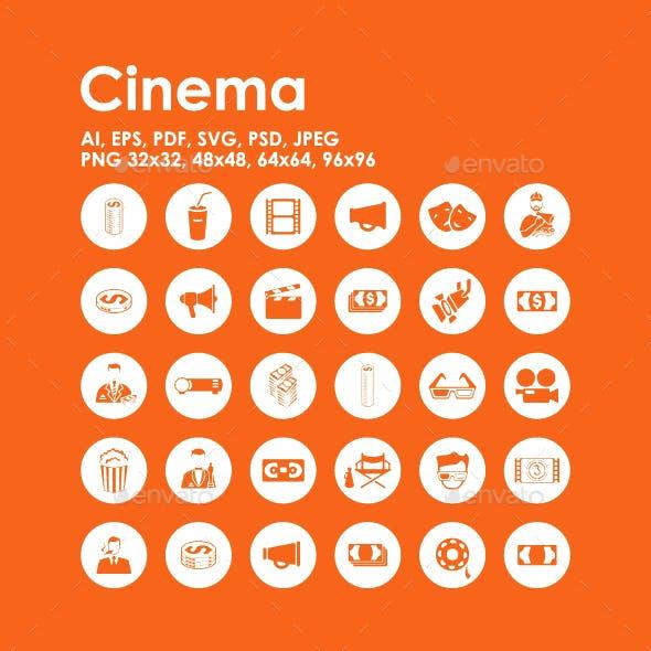 30 Cinema icons