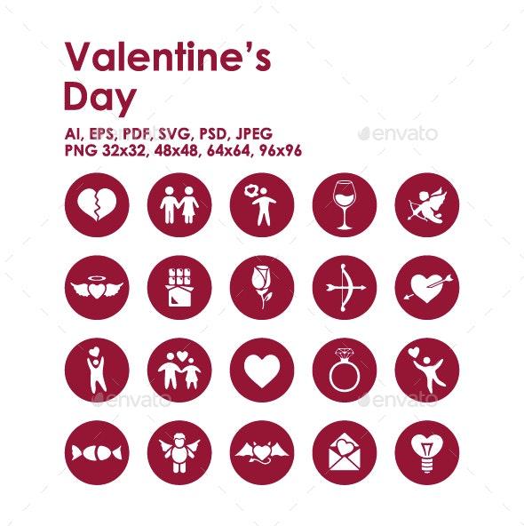 20 Valentine's Day icons - Seasonal Icons