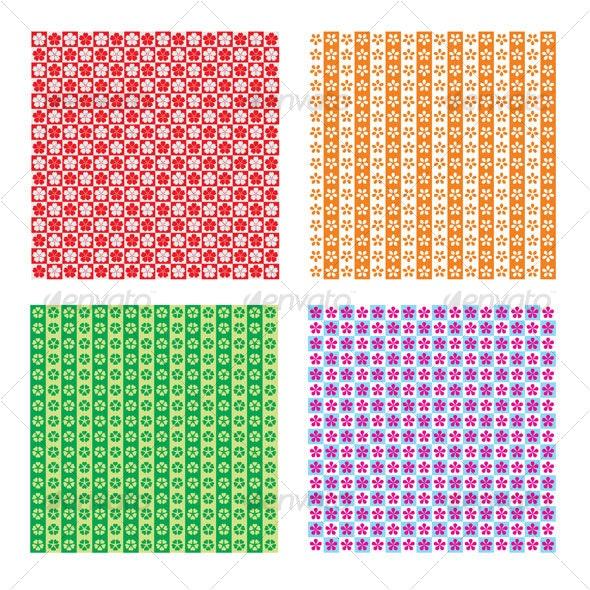 sakura flower pattern - Patterns Decorative