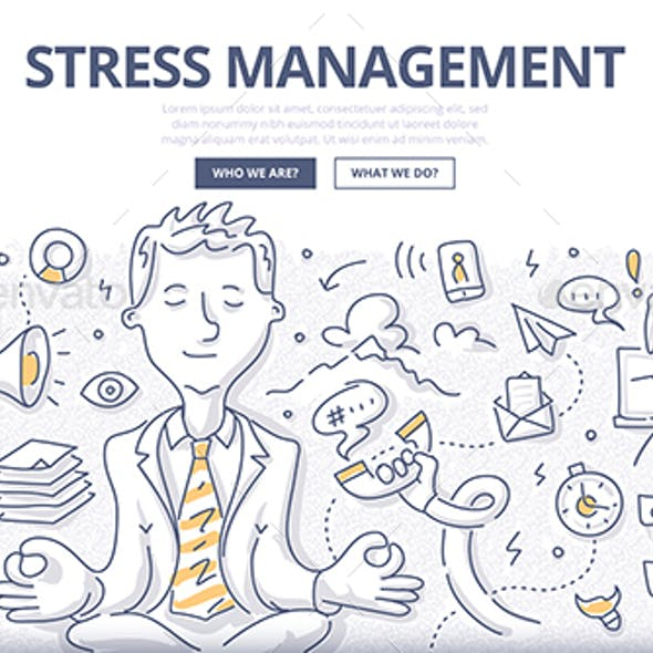 Stress Management Doodle Concept