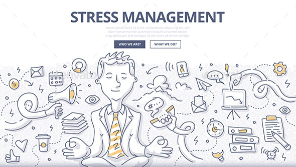 Stress Management Doodle Concept - Concepts Business