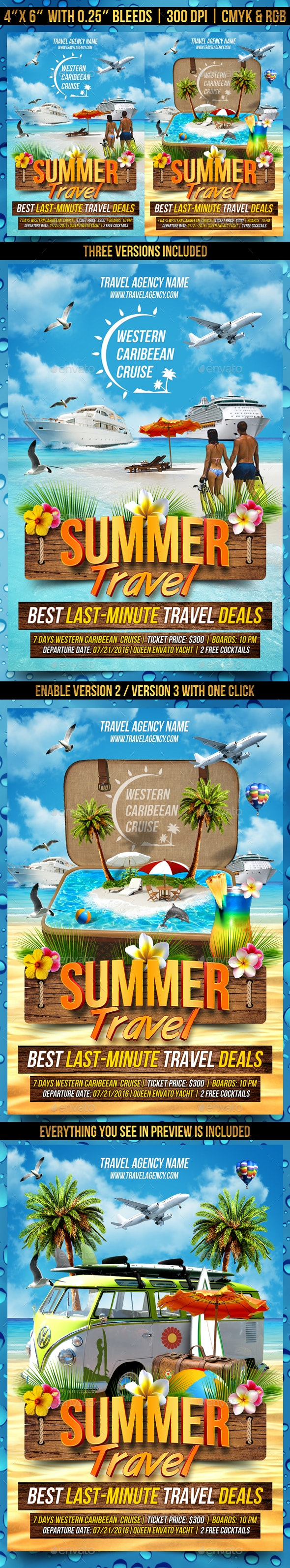 Summer Travel Flyer Template - Events Flyers