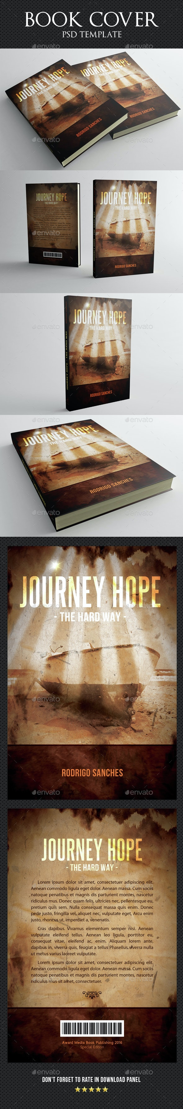 Journey Hope Book Cover Template - Miscellaneous Print Templates