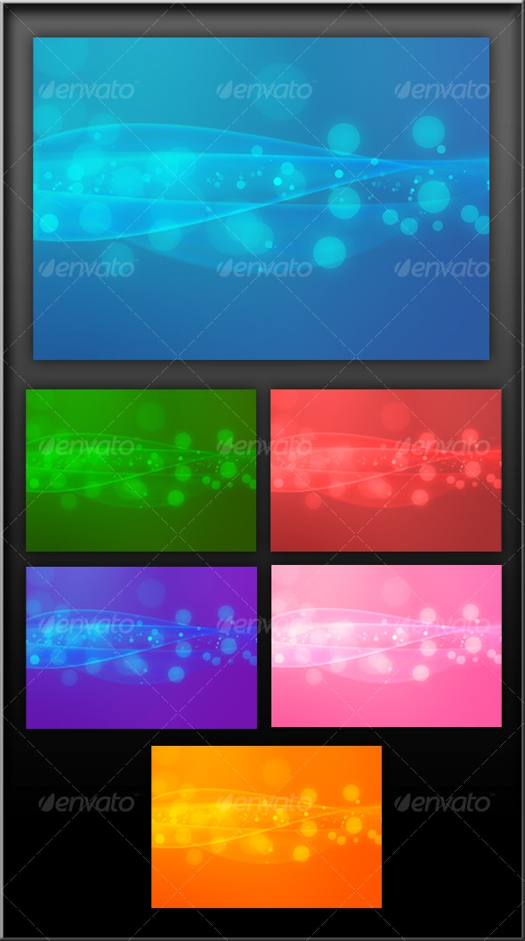 Wavy blue background - Backgrounds Graphics