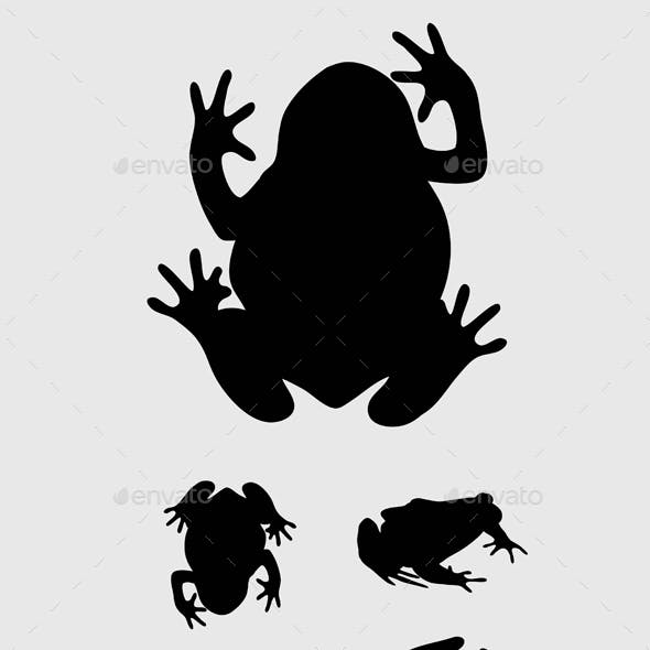 Frog Set Silhouettes
