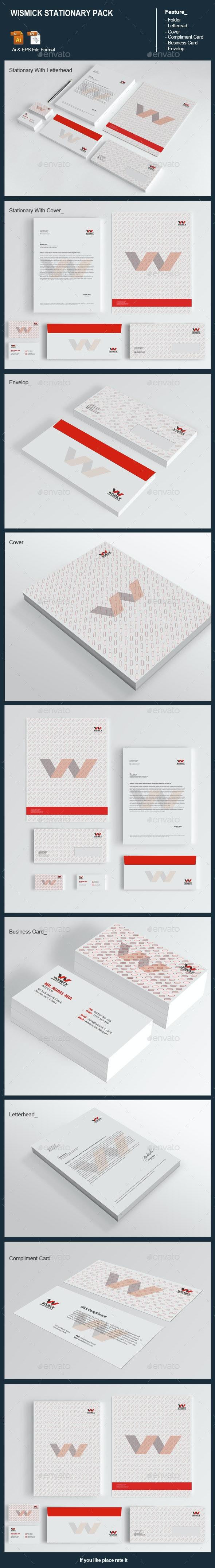 Wismick Stationary Pack - Stationery Print Templates