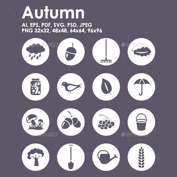 16 Autumn icons - Seasonal Icons