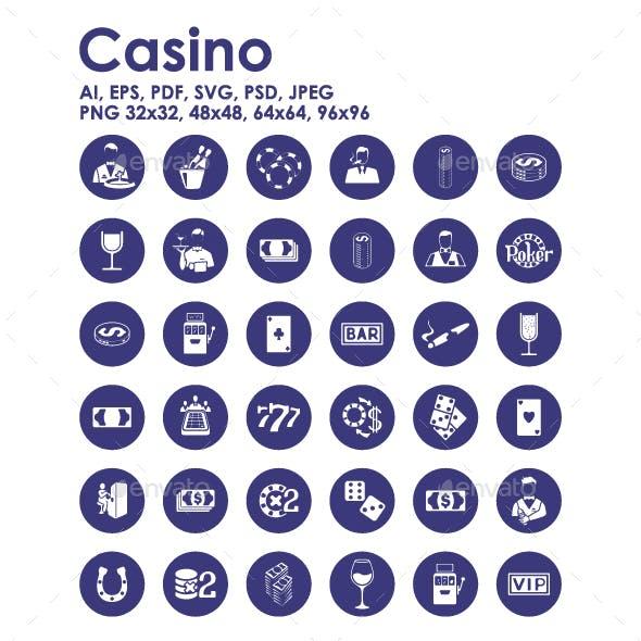 36 Casino icons