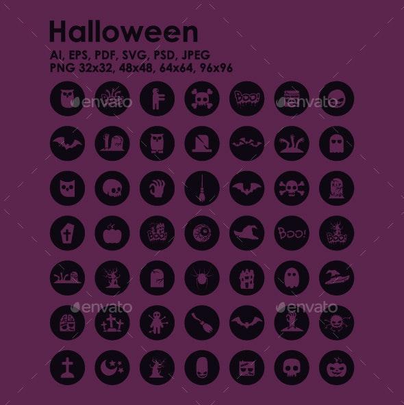 49 Halloween icons - Seasonal Icons