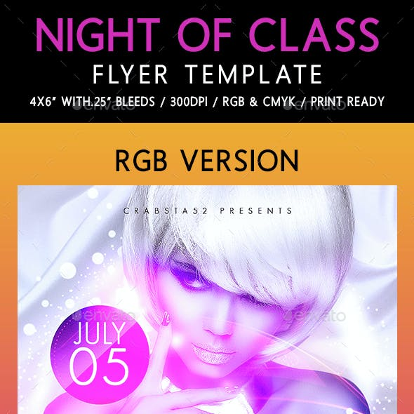 Night of Class Flyer Template