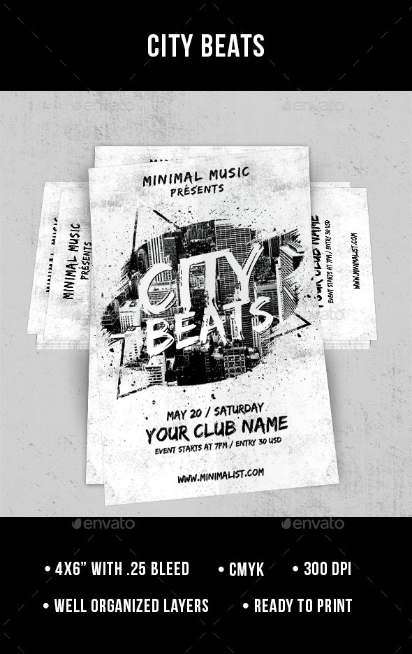 City Beats - Flyer - Clubs & Parties Events