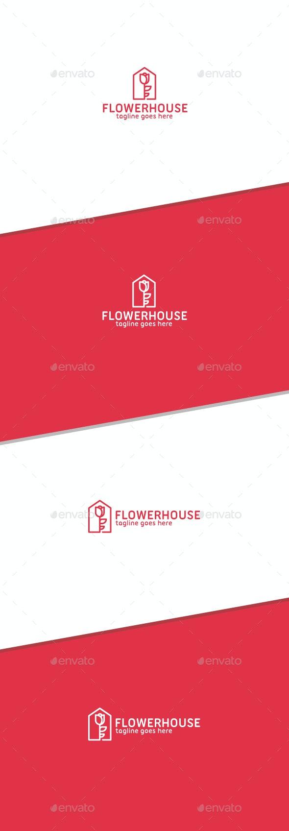 Flower House Logo - Logo Templates