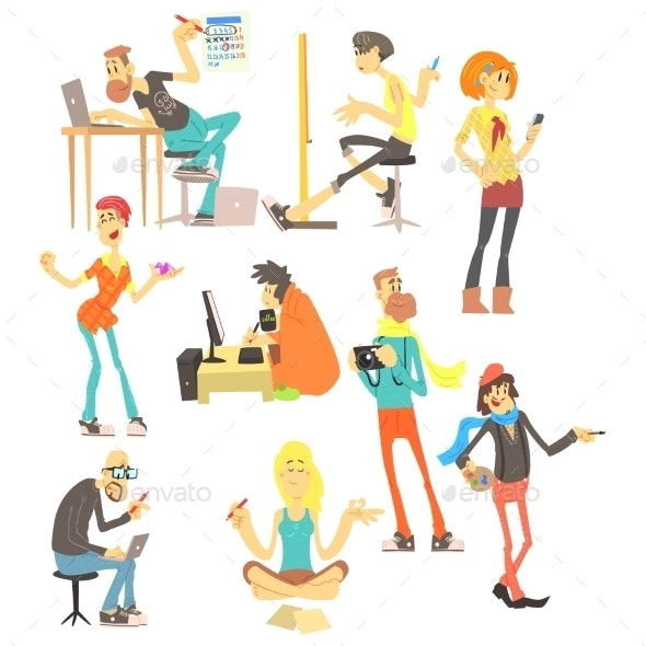 Creative People Set - People Characters